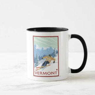 Mug Scène de skieur de VermontDownhill