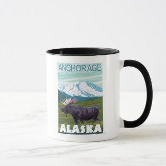 Mug Scène d'orignaux - Anchorage, Alaska