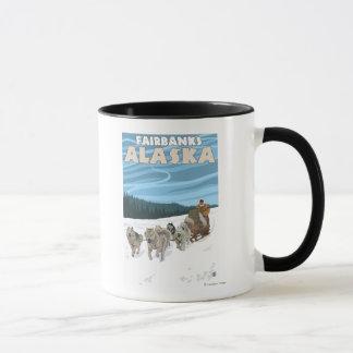 Mug Scène Sledding de chien - Fairbanks, Alaska