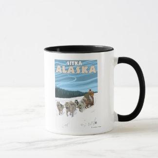 Mug Scène Sledding de chien - Sitka, Alaska