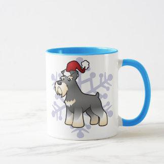Mug Schnauzer géant/standard/miniature de Noël