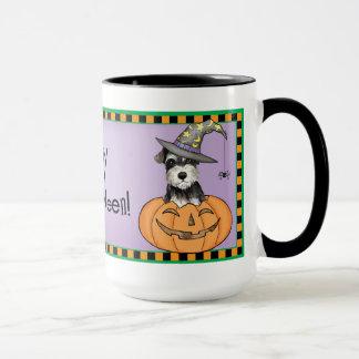 Mug Schnauzer miniature de Halloween