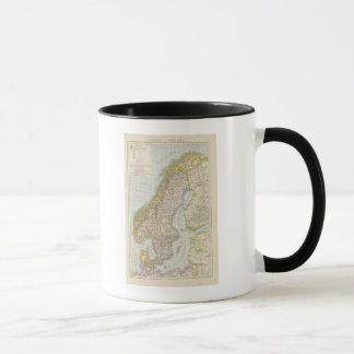 Mug Schweden, Norwegen - la Suède et carte de la