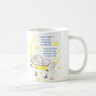 Mug Scintillement blanc de great dane