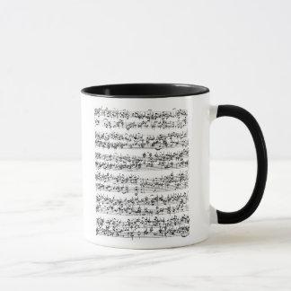 Mug Score de musique de Johann Sebastian Bach