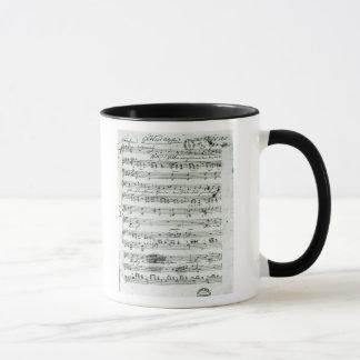 Mug Score manuscrit pour le 'Hektors trouvé Abschied