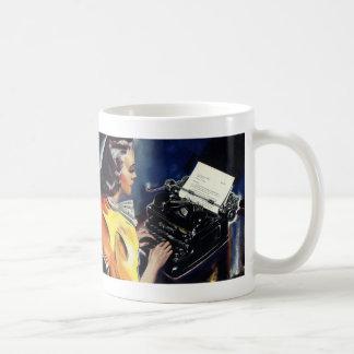 Mug Secrétaire vintage Typing Letter de cadre