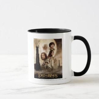 Mug Seigneur des anneaux : L'affiche de film de deux