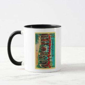 Mug Séquoias, la Californie - grandes scènes de lettre