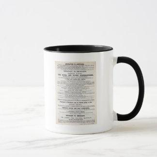 Mug Services d'émigrant de publicité par affichage