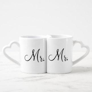 Mug Set de M. et de M. Lovers' Mugs Amoureux