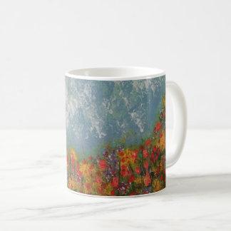 """Mug """"S'étendant dans un pré"""".  Belle et tranquille"""