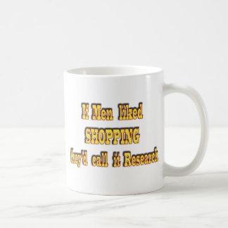 Mug Si les hommes aimaient faire des emplettes, ils