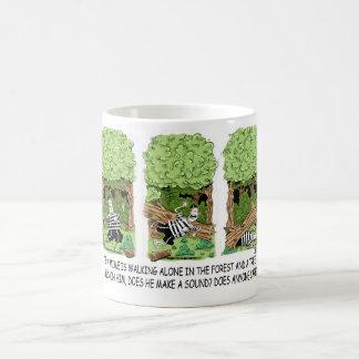 Mug Si un arbre tombe sur un pantomime…