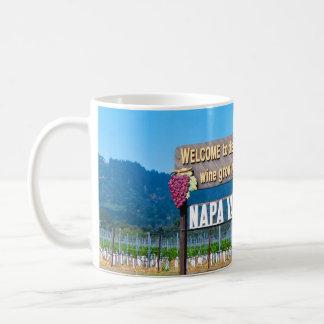 Mug Signe bienvenu de pays de vin de Napa Valley