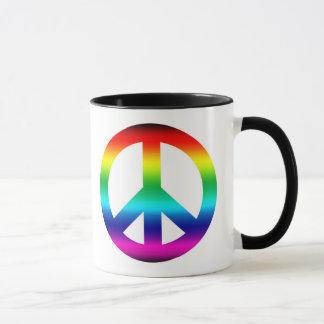 Mug Signe de paix d'arc-en-ciel