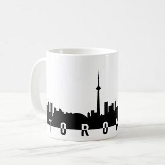 Mug silhoue de noir de symbole de ville du Canada de