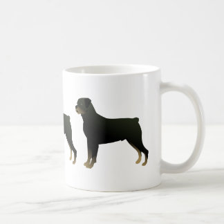 Mug Silhouette de base d'illustration de race de chien