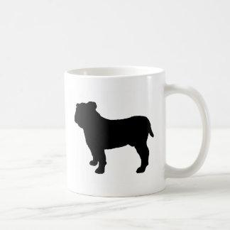 Mug silhouette de bouledogue