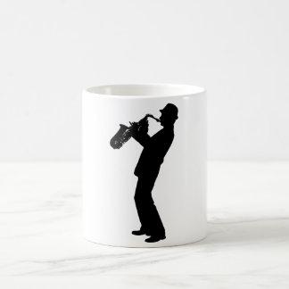 Mug Silhouette de joueur de saxophone