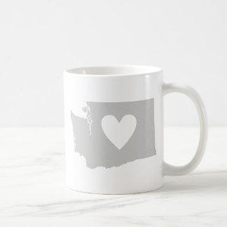 Mug Silhouette de l'état de Washington De coeur