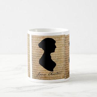 Mug Silhouette de page de Jane Austen