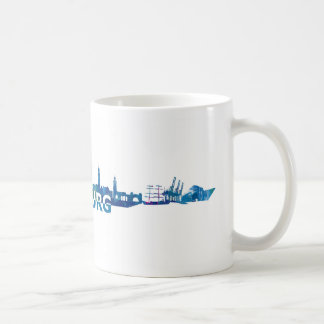 Mug Silhouette d'horizon de Hambourg