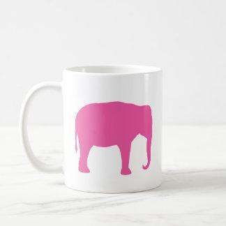 Mug Silhouettes d'éléphant rose
