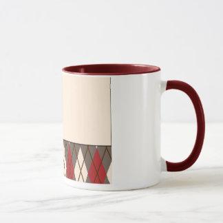 Mug Singe à motifs de losanges de chaussette