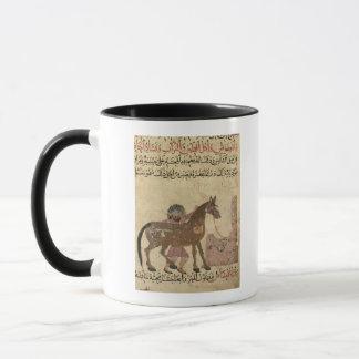 Mug S'inquiétant du cheval, illustration