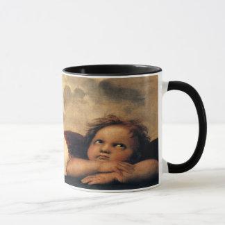 Mug Sistine Madonna, détail d'anges par Raphael