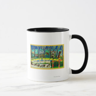 Mug Sitka, lettre ScenesSitka, AK d'AlaskaLarge