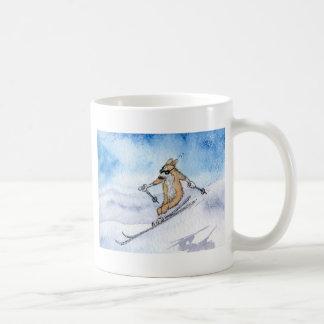 Mug Ski de chien de corgi de Gallois