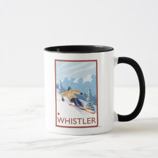 Mug Skieur de neige de Downhhill - Whistler, AVANT