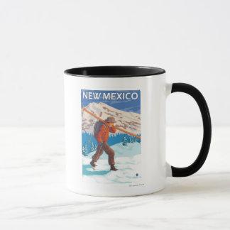 Mug Skieur portant SkisNew Mexique