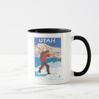 Mug Skieur portant SkisUtah