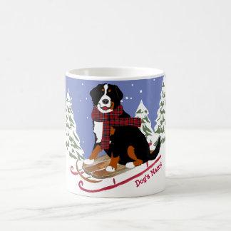 Mug Sledding personnalisé de chien de Bernese Mt de