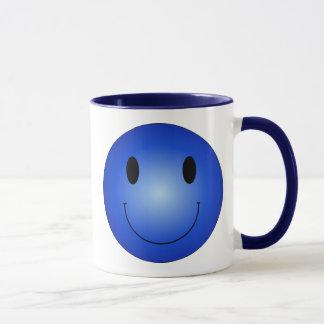 Mug Smiley bleu