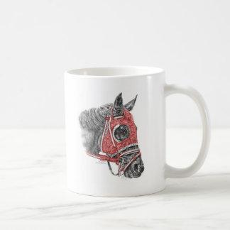 Mug Soies de portrait de cheval de course