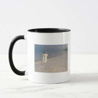 Mug Soirée d'été sur la plage du sud de Skagen