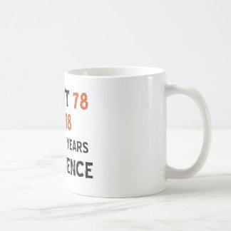 Mug soixante-dix-huitième conceptions d'anniversaire