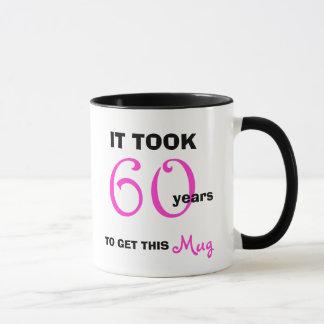 Mug soixantième Idées de cadeau d'anniversaire pour sa
