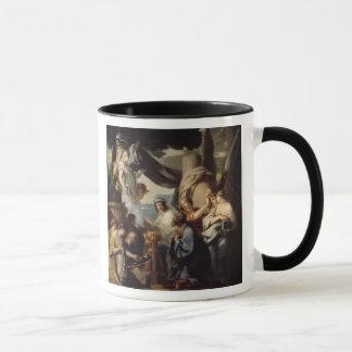 Mug Solomon faisant un sacrifice aux idoles