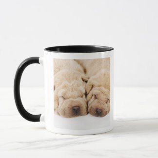 Mug Sommeil de deux chiots de Shar Pei