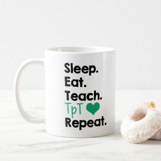 Mug Sommeil. Mangez. Enseignez. TpT. Répétition