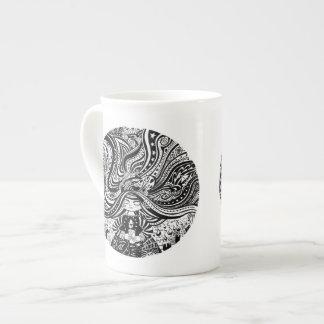 Mug Souhaits d'ange de Grincheux de porcelaine tendre