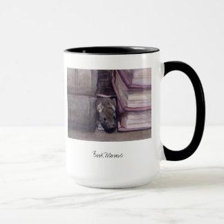"""Mug """"Souris de livre"""" peinte dans Waterclour"""