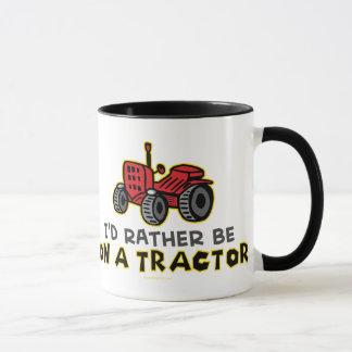 Mug Soyez plutôt sur un tracteur