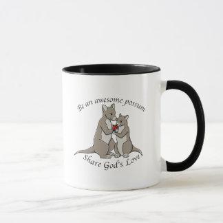 Mug Soyez un opossum impressionnant - partagez l'amour