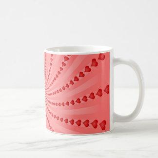 Mug Spirale de coeurs : Illustration de vecteur :